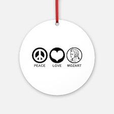 Peace Love Mozart Ornament (Round)