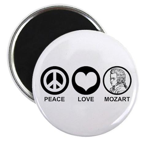Peace Love Mozart Magnet