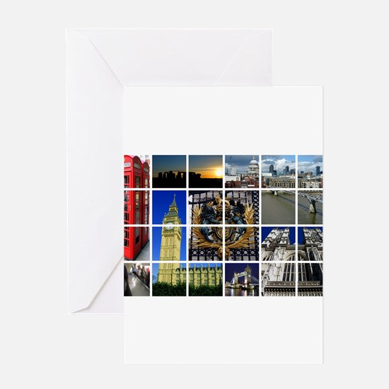 London Photo Montage Greeting Cards