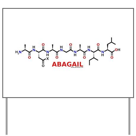 Abagail name molecule Yard Sign