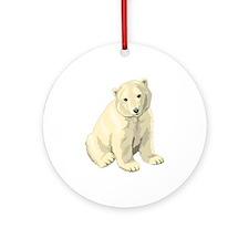Polar Bear Gift Ornament (Round)