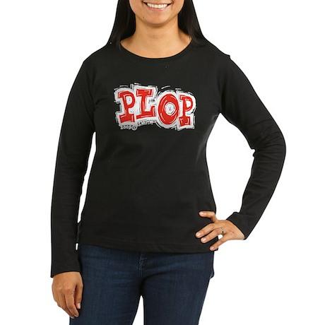 Plop Women's Long Sleeve Dark T-Shirt