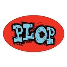 Plop Oval Decal