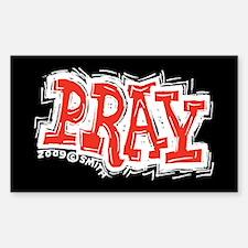 Pray Rectangle Decal