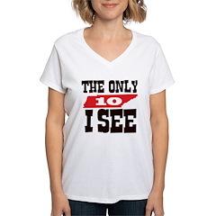 Ten I See Women's V-Neck T-Shirt