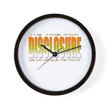 Disclosure Project (orange) Wall Clock