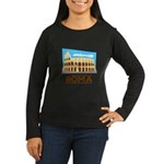 Rome Coliseum Women's Long Sleeve Dark T-Shirt