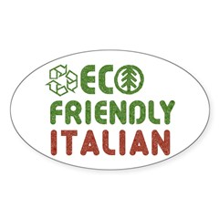 Eco Friendly Italian Oval Decal