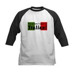 Cute Italian Kids Baseball Jersey