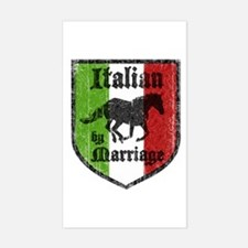 Italian by Marriage Vintage Rectangle Decal