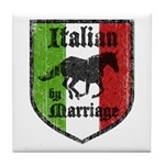 Italian by Marriage Vintage Tile Coaster