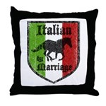 Italian by Marriage Vintage Throw Pillow