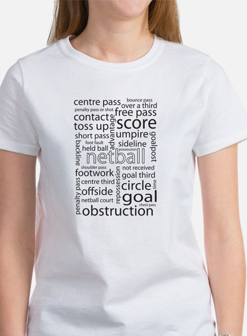 Netball Word Cloud Tee