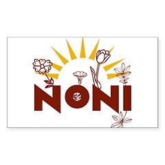 Noni Italian Grandmother Rectangle Decal