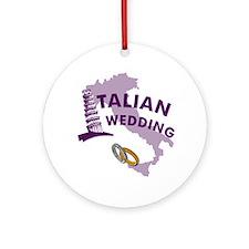 Italian Wedding Ornament (Round)