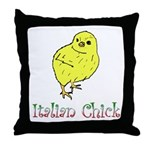 Italian Chick Throw Pillow