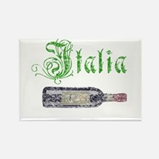 Italian Wine Bottle Vintage Rectangle Magnet