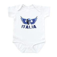 Italy Blue Skull Infant Bodysuit