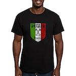 Italian Crest Men's Fitted T-Shirt (dark)