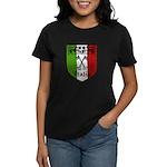 Italian Crest Women's Dark T-Shirt