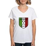 Italian Crest Women's V-Neck T-Shirt