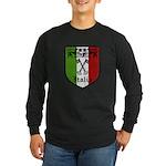 Italian Crest Long Sleeve Dark T-Shirt