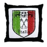 Italian Crest Throw Pillow