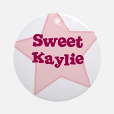 Sweet Kaylie Ornament (Round)