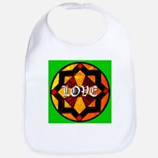LOVE on Stained Glass Art Bib