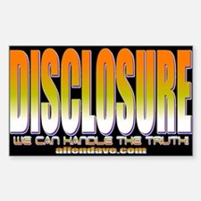 UFO Disclosure Project Rectangle Decal