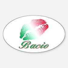 Italian kiss Oval Decal