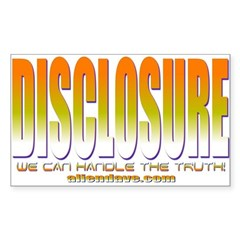 Disclosure Project (orange) Rectangle Decal