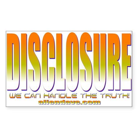 Disclosure Project (orange) Rectangle Sticker