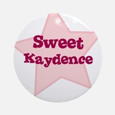 Sweet Kaydence Ornament (Round)
