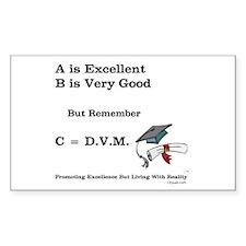 C=DVM Rectangle Decal
