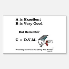C=DVM Rectangle Decal