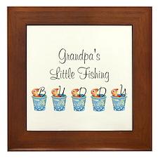 Grandpa's Fishing Buddy Framed Tile