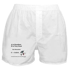 C=DDS That's all that counts! Boxer Shorts