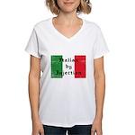 Italian by Injection Women's V-Neck T-Shirt