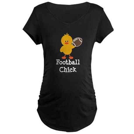 Football Chick Maternity Dark T-Shirt