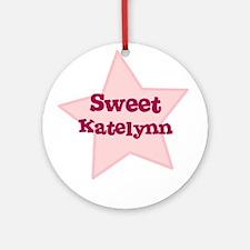 Sweet Katelynn Ornament (Round)