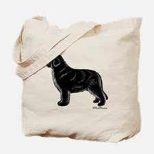 Newfoundland (Black) Tote Bag