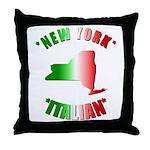 New York Italian Throw Pillow
