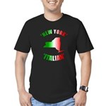 New York Italian Men's Fitted T-Shirt (dark)