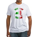 New York Italian Fitted T-Shirt