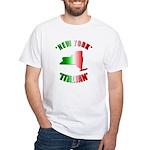 New York Italian White T-Shirt