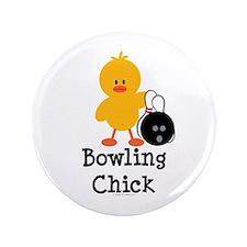"Bowling Chick 3.5"" Button"