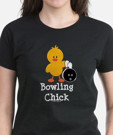 Bowling Chick Women's Dark T-Shirt