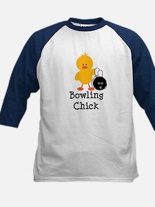 Bowling Chick Kids Baseball Jersey