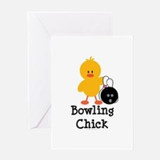 Bowling Chick Greeting Card
